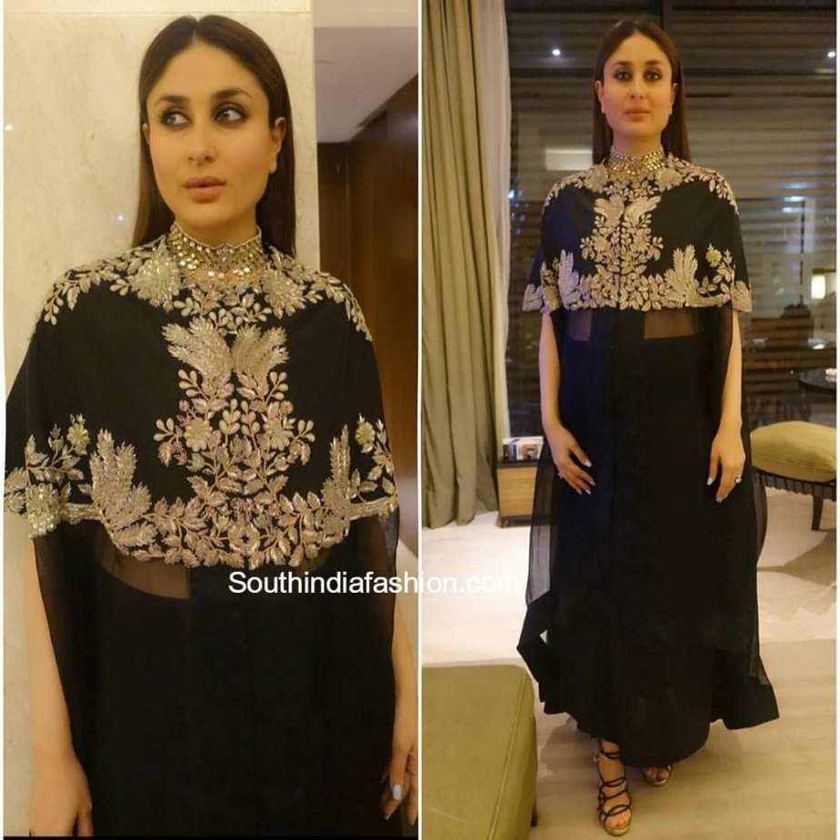 Black dress kareena kapoor - Kareena Kapoor In Anamika Khanna