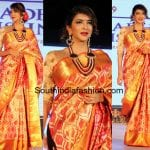Lakshmi Manchu in a Kanchipuram saree
