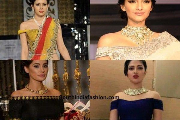 off-shoulder-saree-blouse