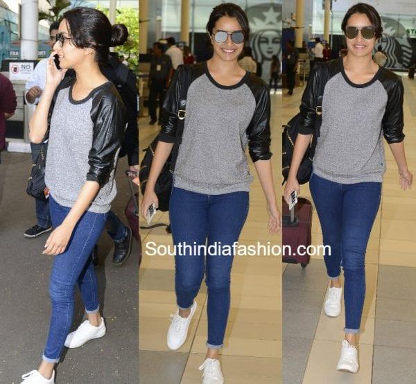 Shraddha Kapoors Casual Airport Look