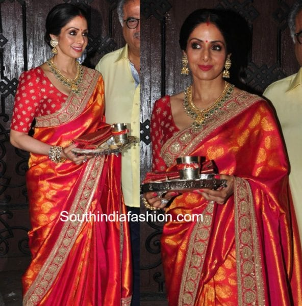 Sridevi Kapoors Stunning Karwa Chauth Look
