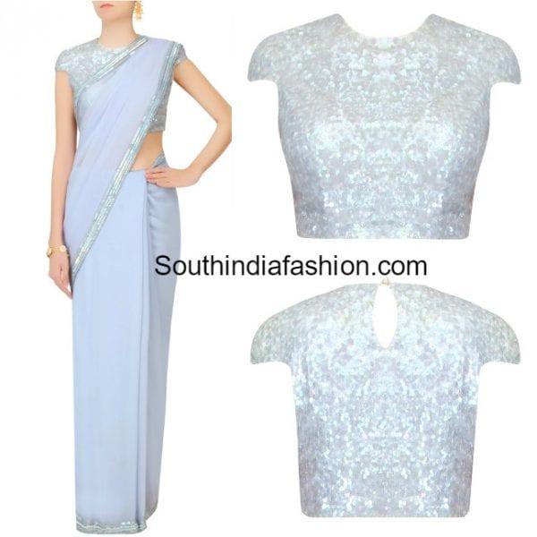 blue-plain-saree-sequins-blouse