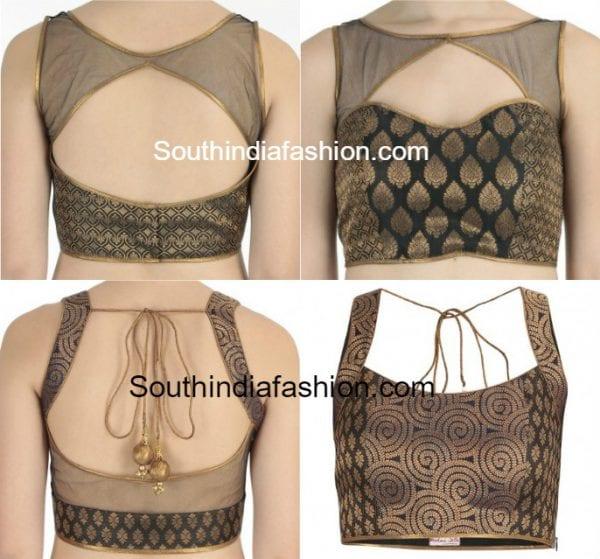 Brocade Net Blouse Designs