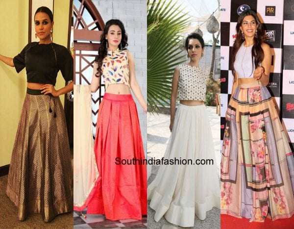 b66f76ad8 How to Wear Crop Top For Different Occasions – South India Fashion