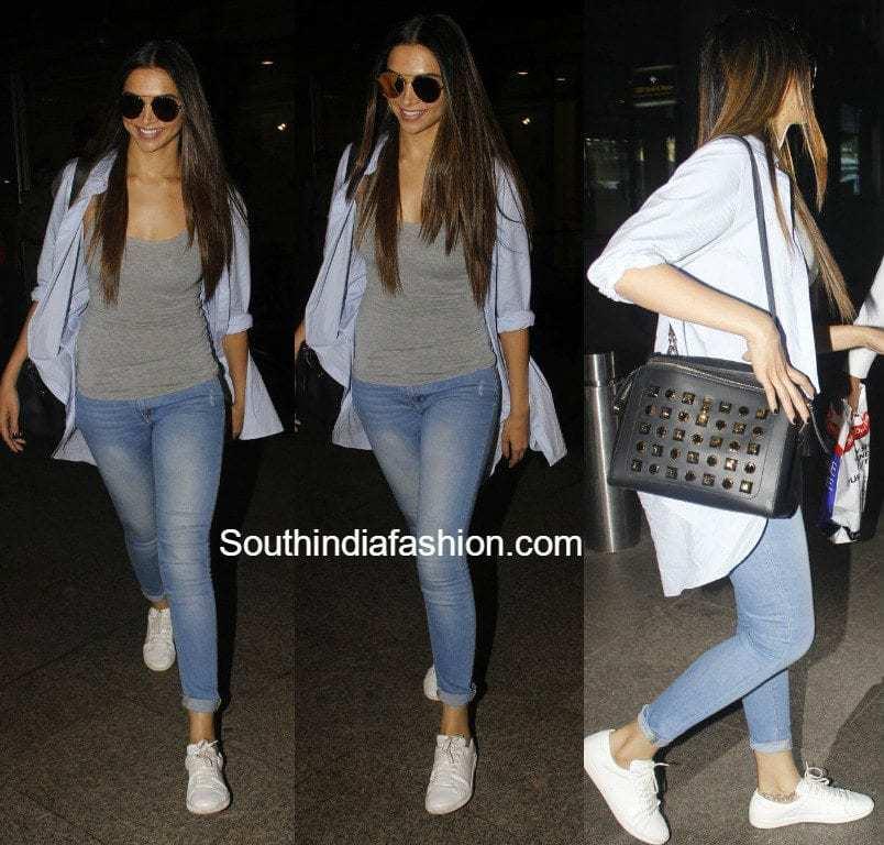 Deepika's Airport Style -South India Fashion