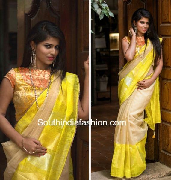 Colourful Banaras Tissue Sarees and Brocade Blouses