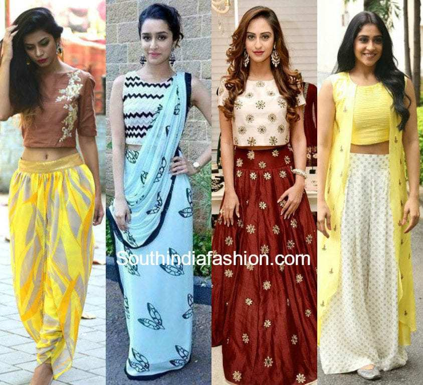 Embroidered Crop Top Blouse Designs   How to Wear Crop Top For Different  Occasions. Crop Top Designs   South India Fashion