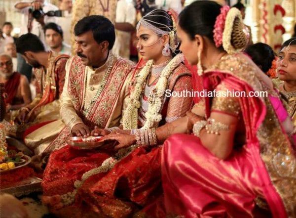 gali-janardhan-daughter-brahmani-wedding-sarees-jewellery