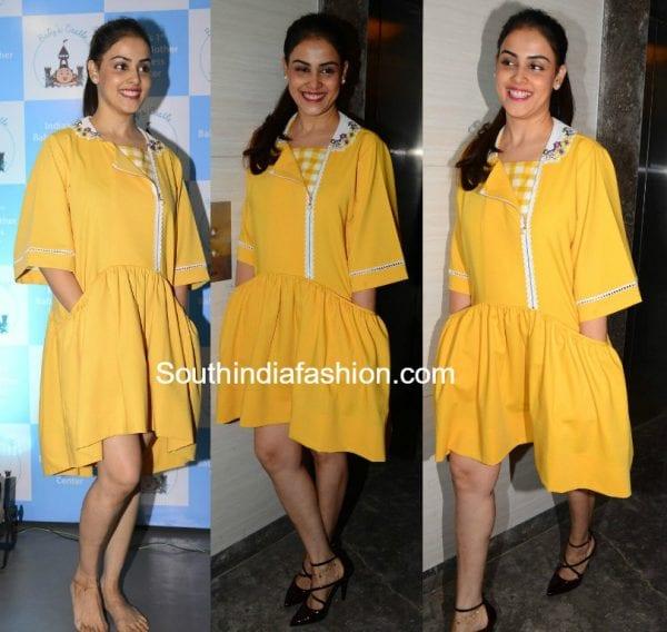 genelia-yellow-dress-baby-and-mother-wellness