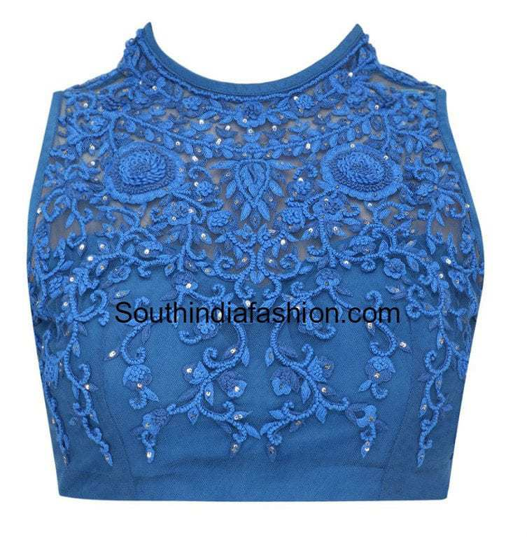 High Neck Blouse ~ Fashion Trends ~ U2013 South India Fashion