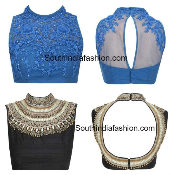 high-neck-embroidered-blouse-designs