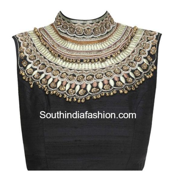 high-neck-saree-blouse