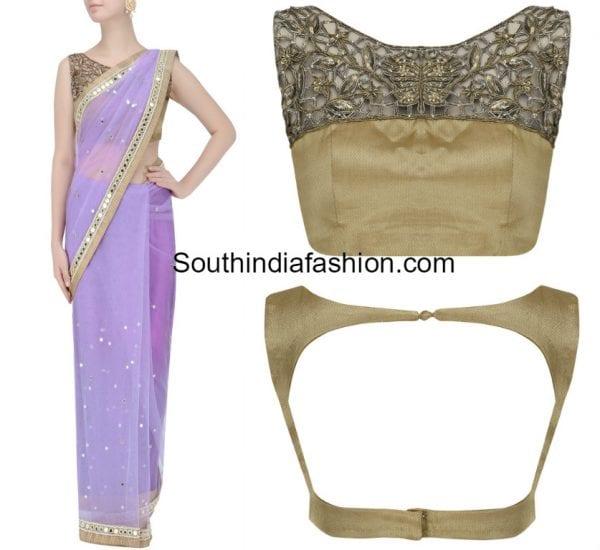 lavender-mirror-work-saree