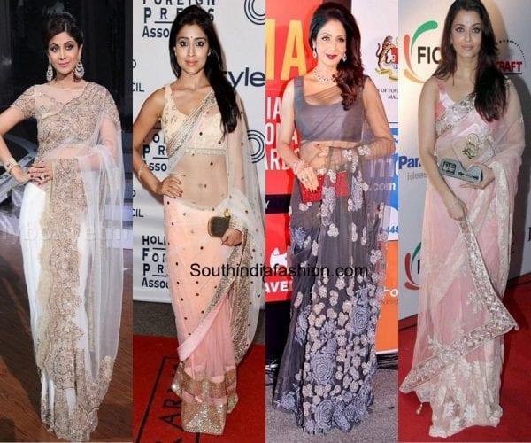 how-to-drape-net-saree