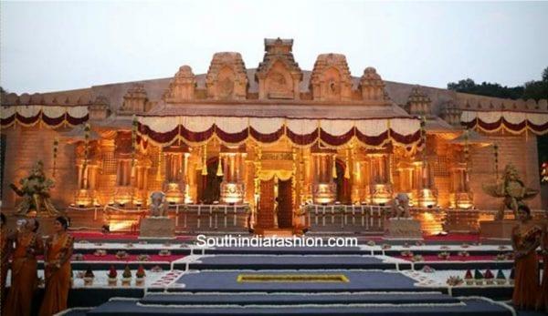 palace-setting-mandapam-gali-janardhan-reddy-daughter