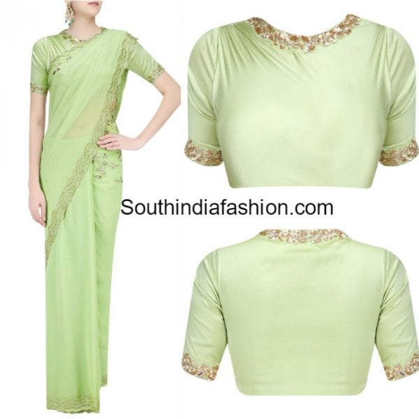 10 Latest Designer Sarees and Blouses