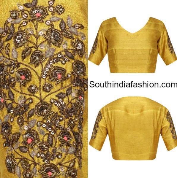 raw-silk-blouse-designs
