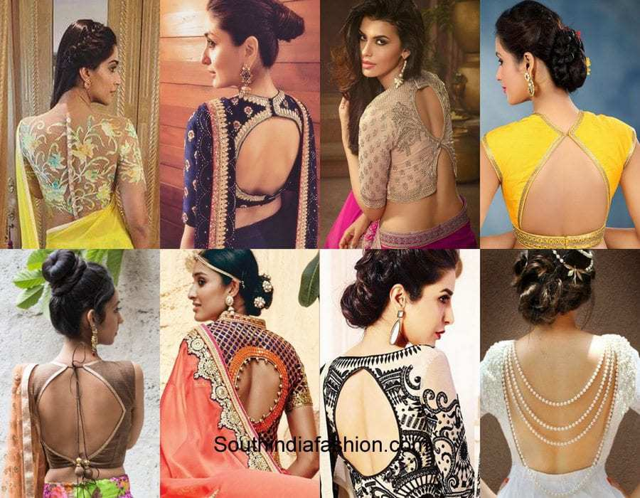 Top 6 Blouse Back Neck Designs South India Fashion