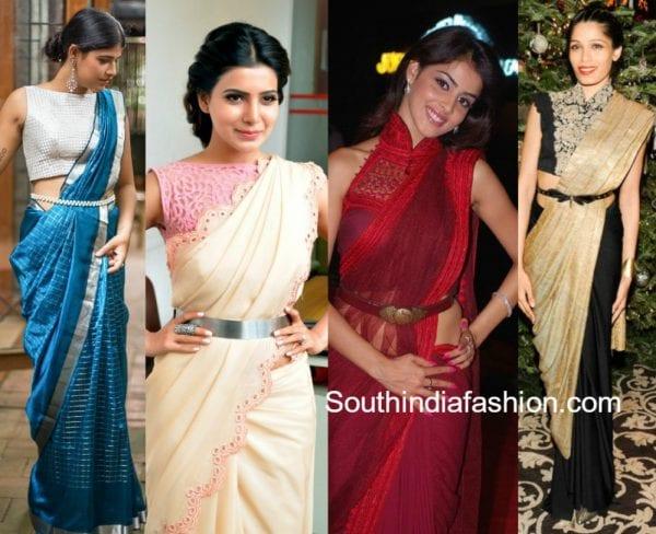 saree-with-belt