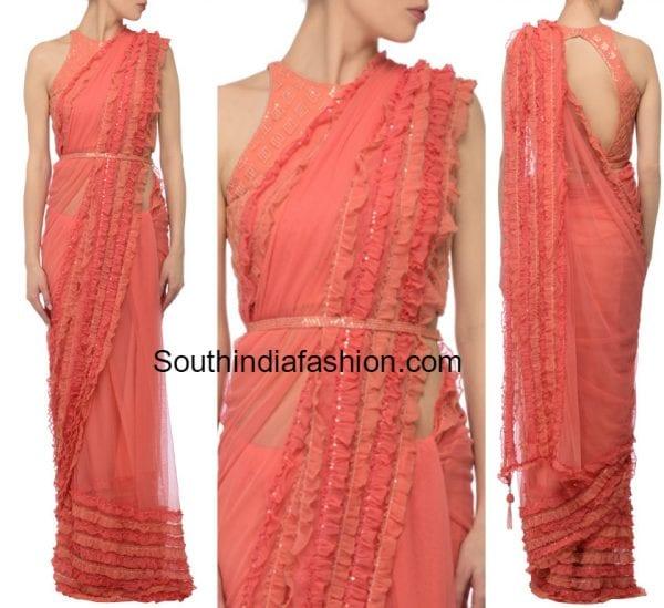 saree-with-ruffles