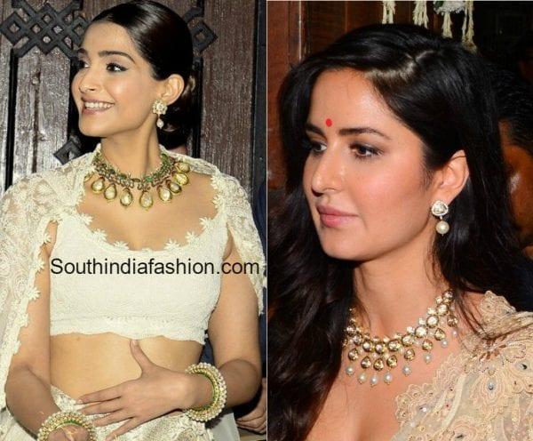 sonam-kapoor-katrina-kaif-diwali-jewellery
