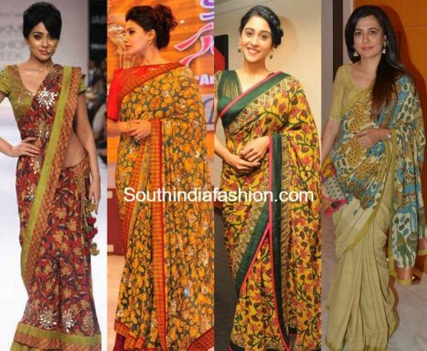 actress-kalamkari-sarees