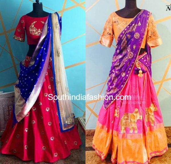 architha-narayan-designer-half-sarees