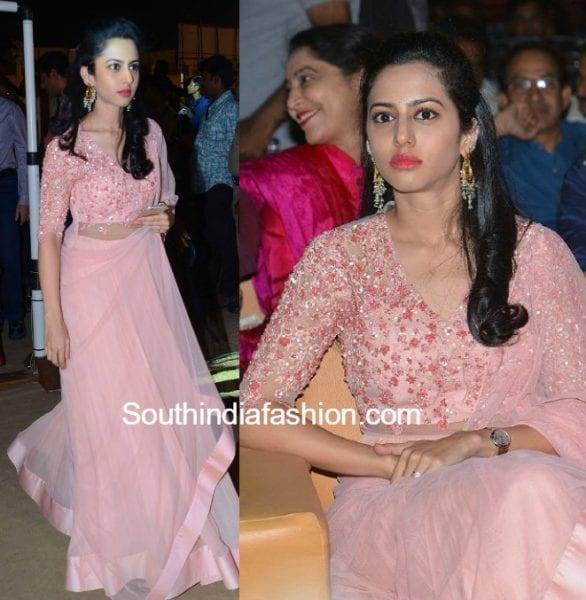 balakrishna-daughter-tejaswini-pink-anarkali