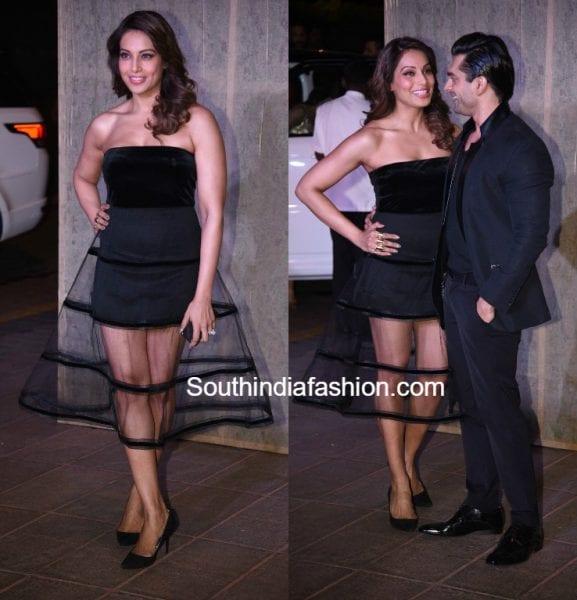 bipasha-basu-black-dress-manish-malhotra-birthday