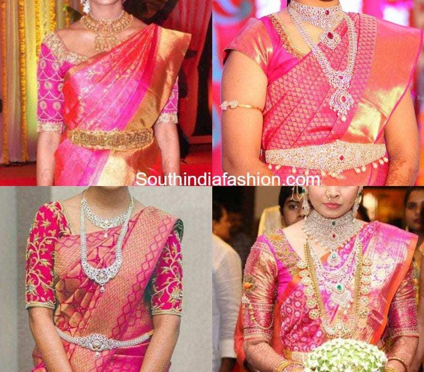 267f7776a6ba9 blouse-designs-for-kanjeevaram-sarees. pink blouse pink kanjeevaram