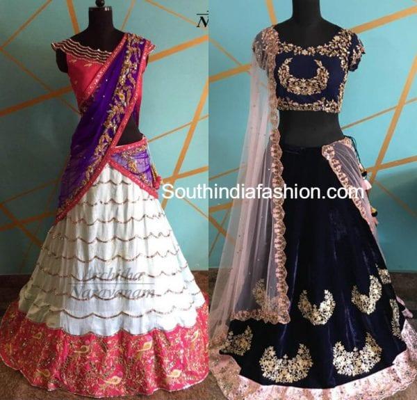 bridal-half-sarees-lehengas-architha-narayanam