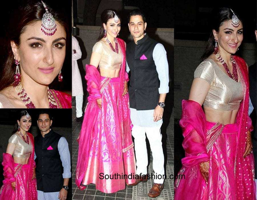 indian-celebs-wedding-reception-dress-soha-ali-khan