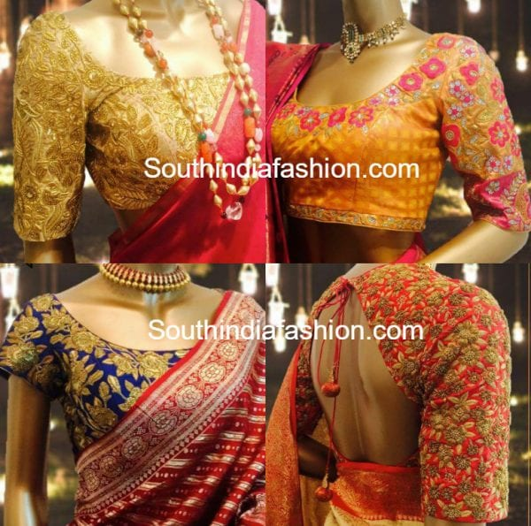 Beautiful Maggam Embroidered Blouse Designs for Silk Sarees