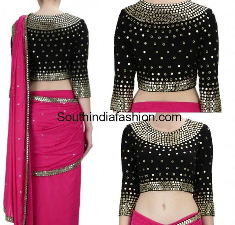 Short Blouses are blouses that cover the chest area and give a sleek look to your attire. These go well with both lehengas and sarees. Midriff Blouses are those that .