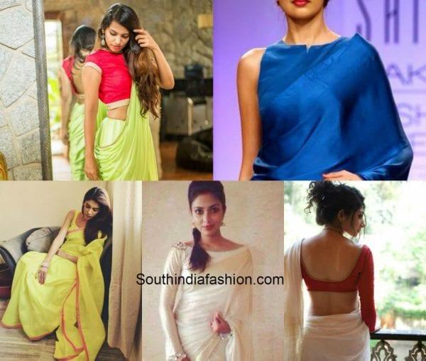 plain_saree_plain_blouse