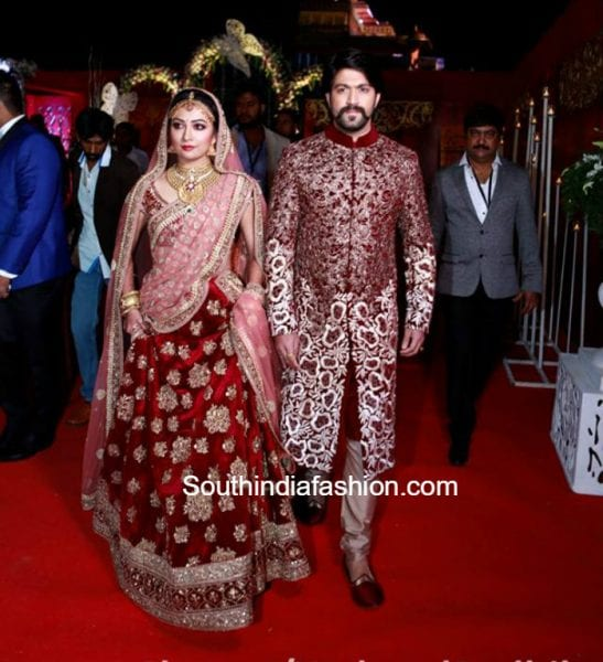 radhika-pandit-wedding-reception-sabyasachi-lehenga