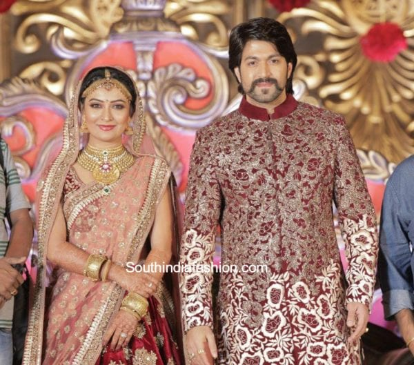 radhika-pandit-yash-marriage-reception-photos