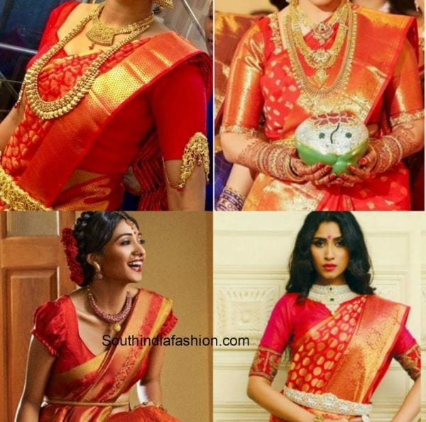 red saree red blouse 1 600x595