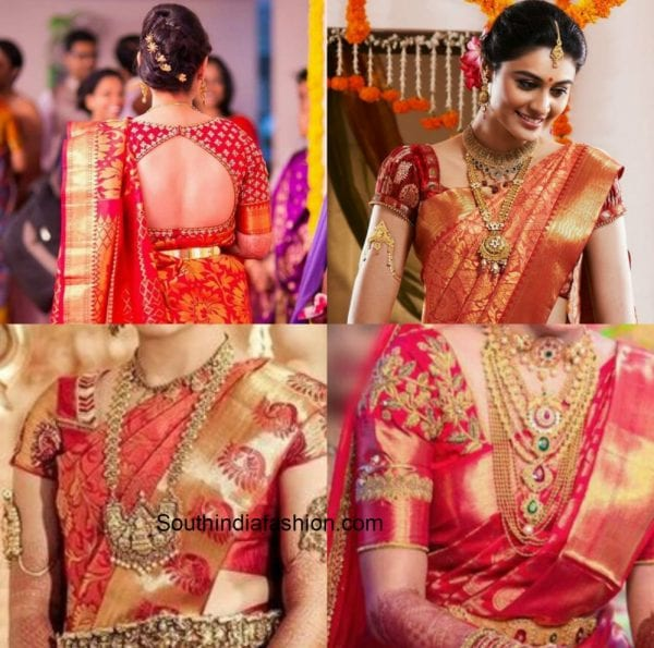 Give Your Red Kanjeevaram Saree A New Look With These Blouse Options