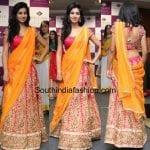 Shamili in a half saree