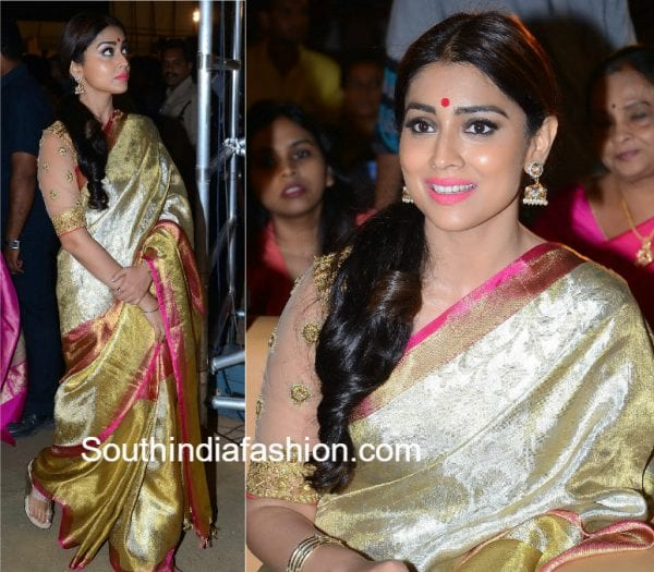 shriya-saran-pattu-saree-gautami-putra-satakarni-audio-function