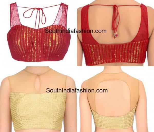 Sleeveless Net Blouse Designs
