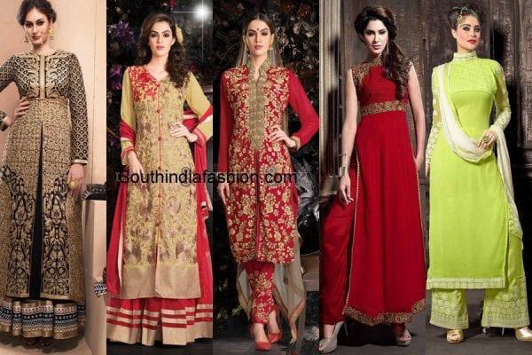 indian-engagement-dresses-straight-cut-suits
