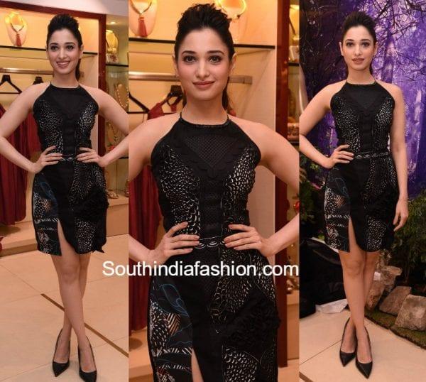 tamannaah-bhatia-lbd-black-dress-eeshaa-amin-collection
