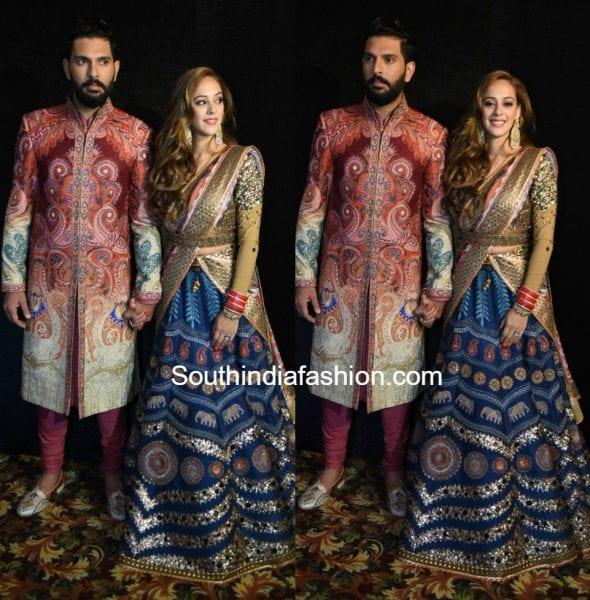 yuvrajsingh-hazel-wedding-reception