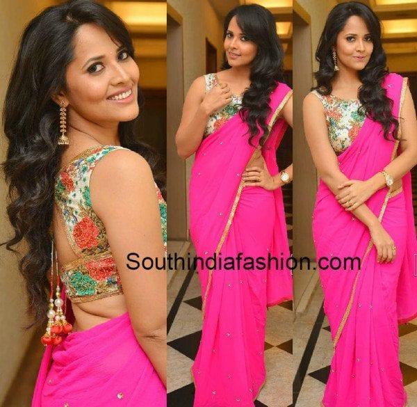 ansuya-in-floral-saree-blouse