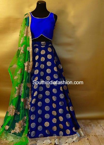 blue-long-skirt-crop-top