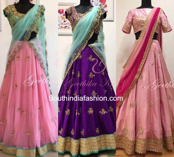 bridal-half-sarees-hyderabad-geetika-kanumilli