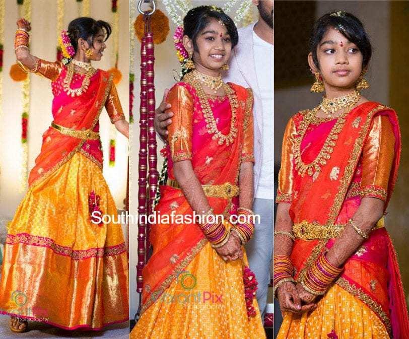 Director Maruthi Daughter Half Saree Function Photos