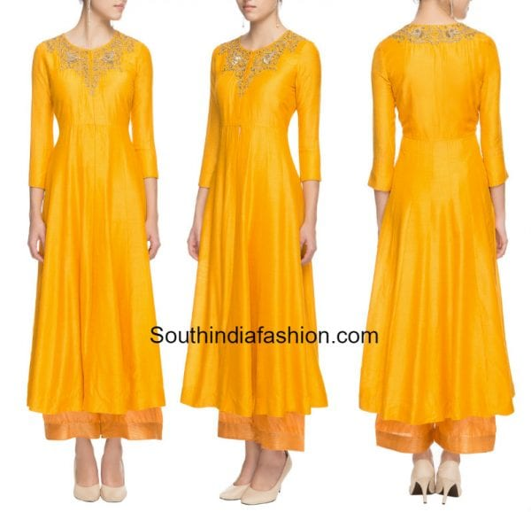 fron slit kurta with palazzos 600x578